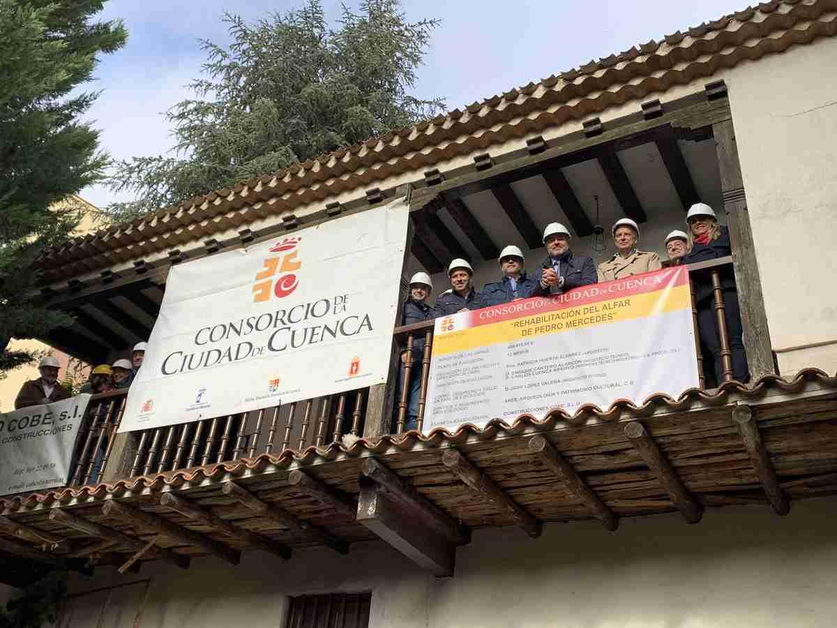 El vicepresidente de Castilla-La Mancha visitó obras de rehabilitación del alfar de Pedro Mercedes 2