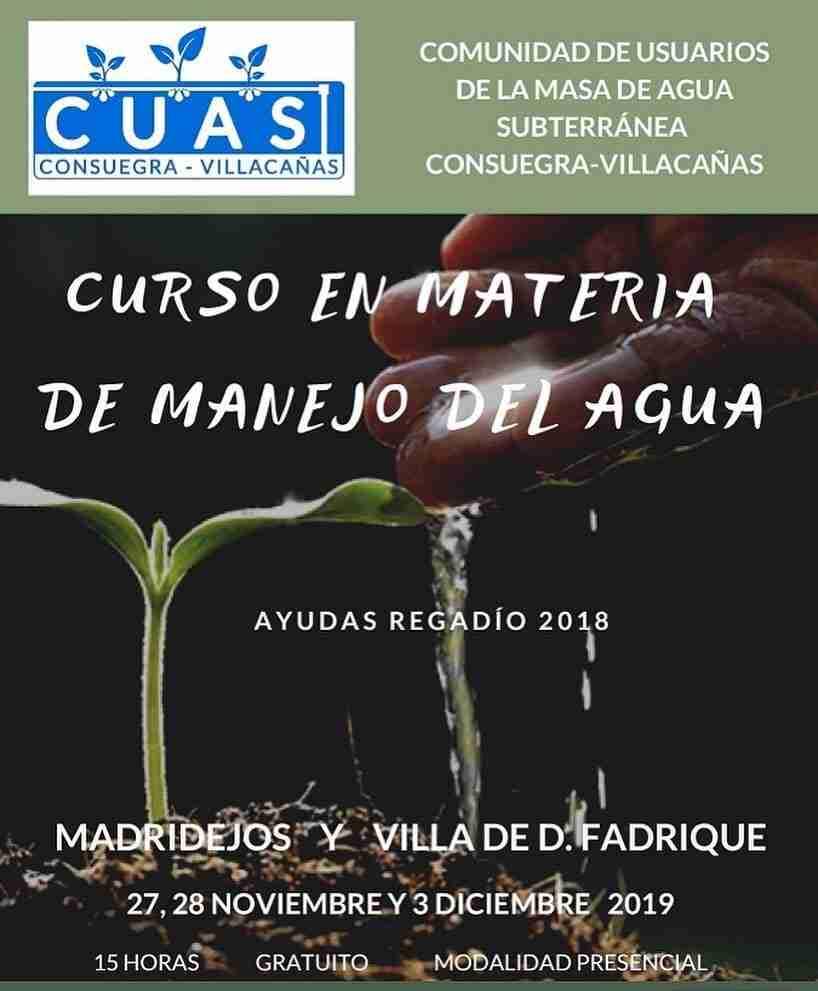 Curso en Materia de Manejo del Agua organizado por CUAS 1