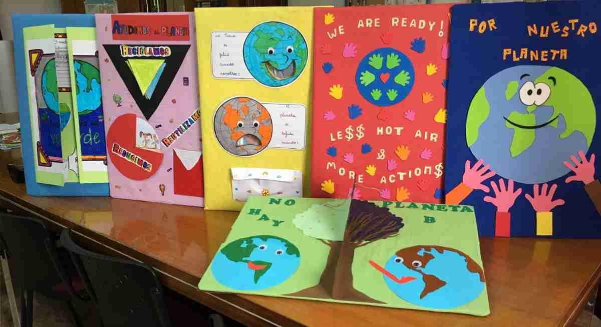 escolares participan en actividades de la cumbre del clima