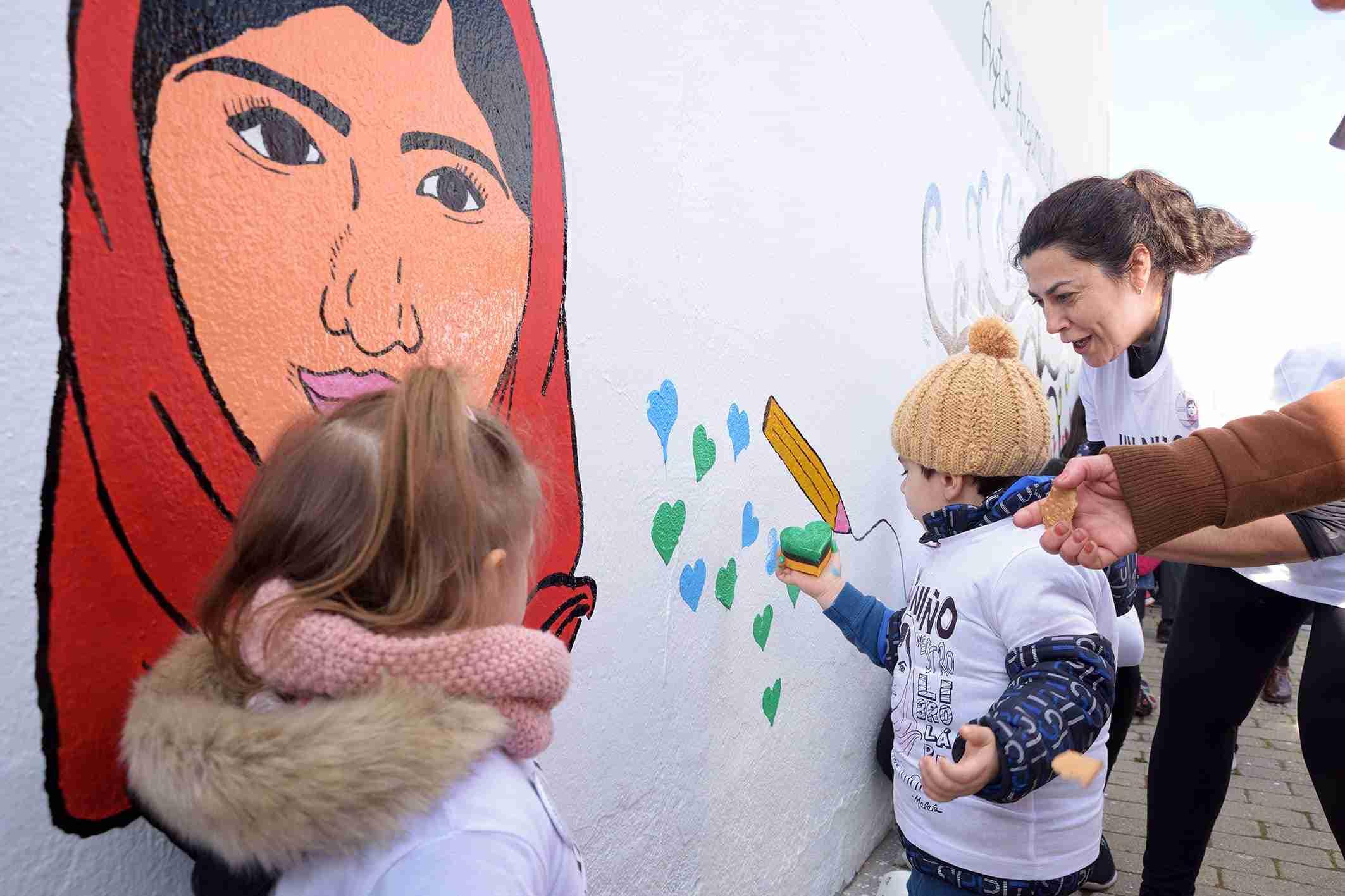 Los centros educativos de Argamasilla de Alba enarbolan la bandera de Malala por el derecho a la educación 9