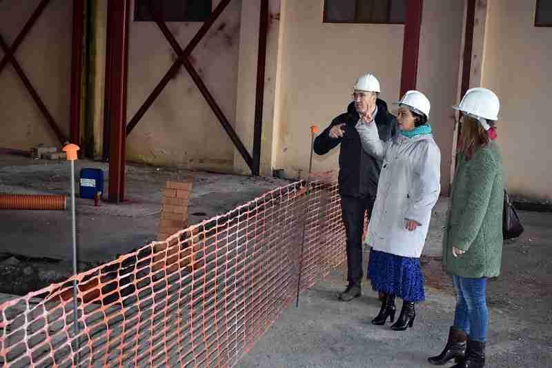 Pilar Zamora visita las obras de la ampliación del Guardapasos que cumplen los plazos previstos 3