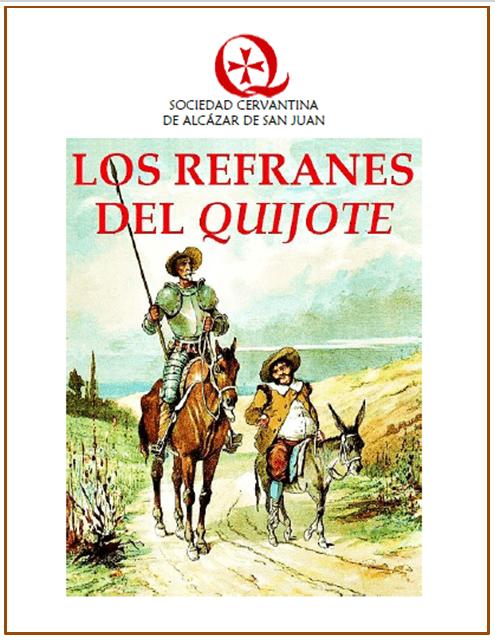Los refranes del Quijote gratis en la web de la Sociedad Cervantina