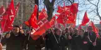 vigilantes de seguridad de prisiones movilizados ayer en madrid