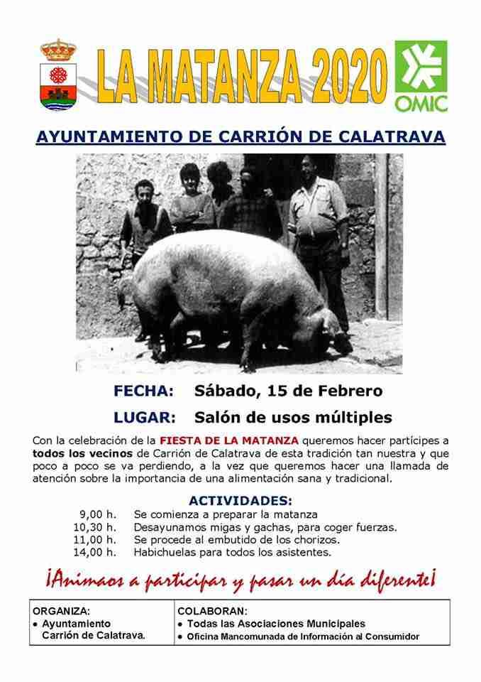 Carrión de Calatrava celebrará su tradicional Fiesta de la Matanza el 15 de febrero 6