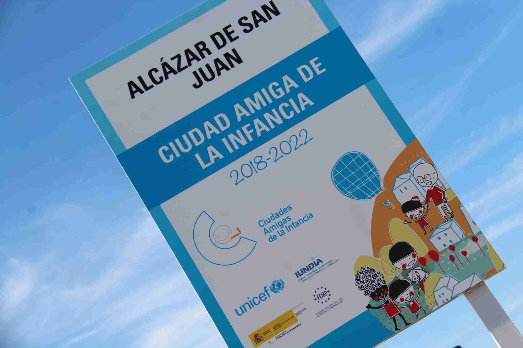 """Alcázar de San Juan inaugura el cartel de """"Ciudad Amiga de la Infancia"""" 1"""