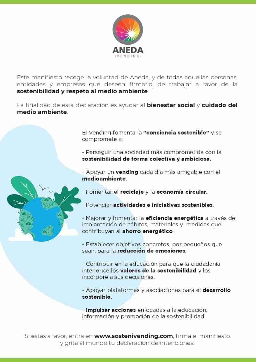 """El vending fomenta la """"conciencia sostenible"""" con su nuevo manifiesto 3"""