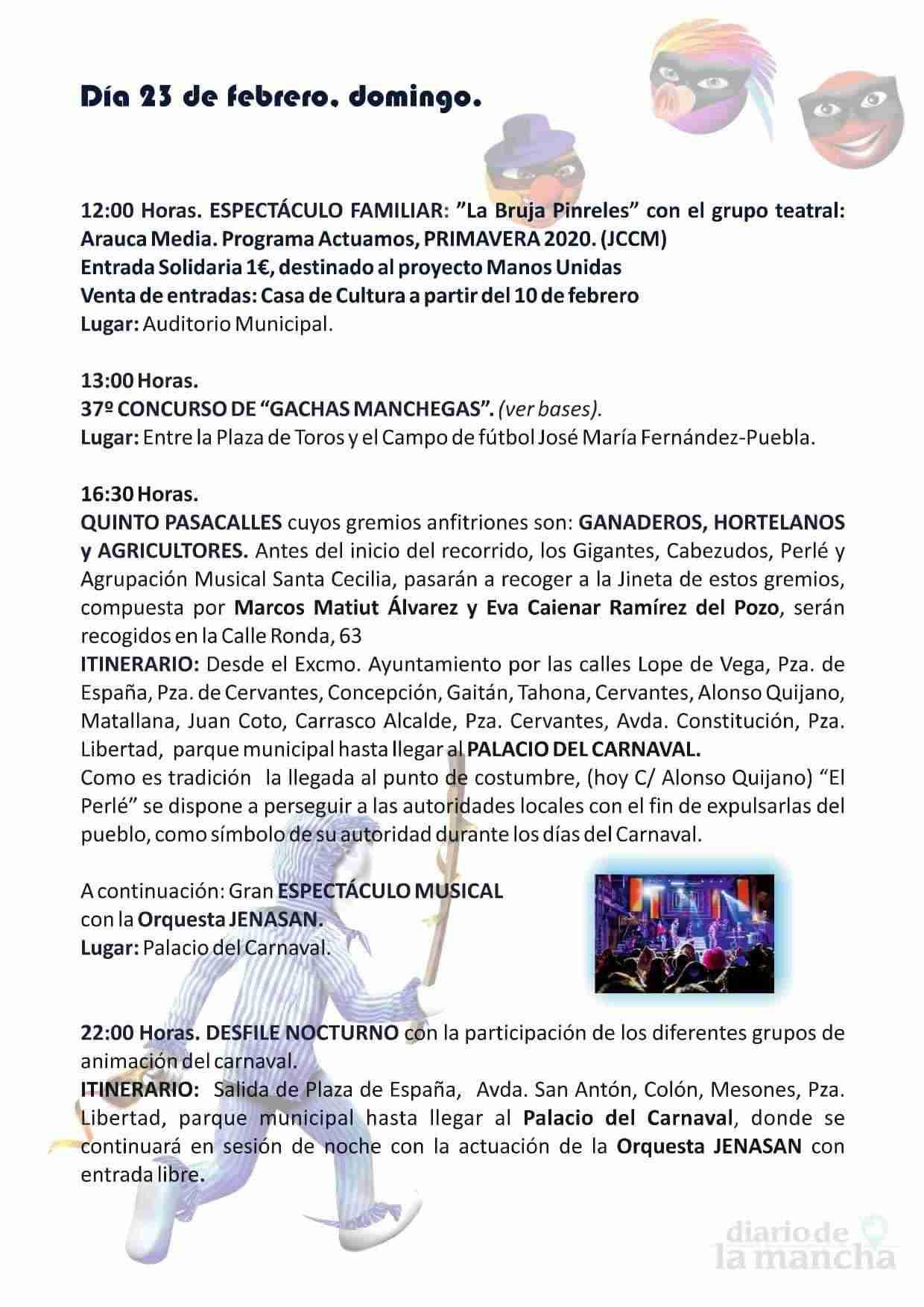 El Carnaval de Herencia contará con el actor Salva Reina como pregonero 7
