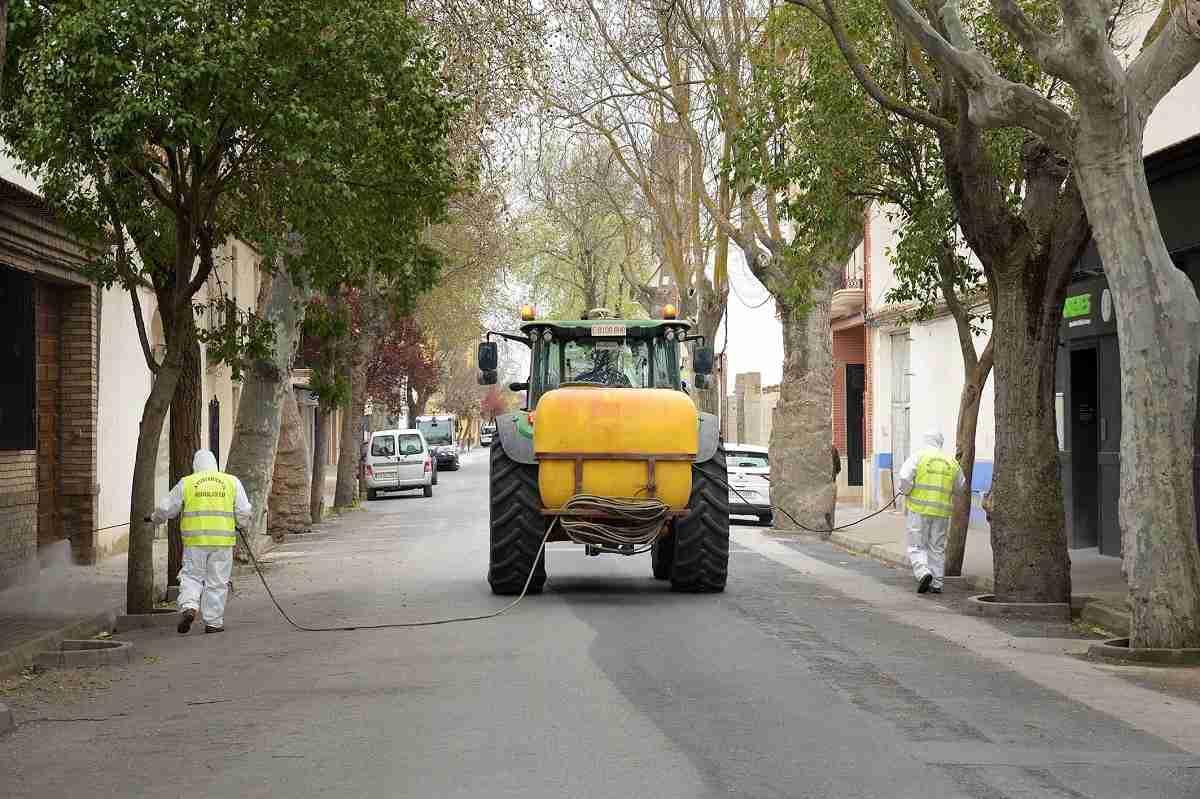 El Ayuntamiento de Argamasilla de Alba comienza las tareas de desinfección contra el COVID-19 9