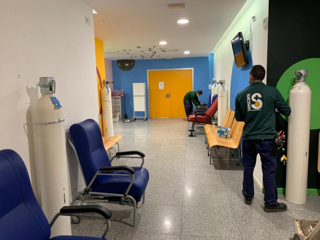 El Complejo Hospitalario de Toledo habilitó una unidad de críticos y planta de hospitalización en el Hospital de Parapléjicos 1