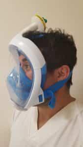 Máscara integral de snorkel para ayudar a los sanitarios a salvar vidas 2