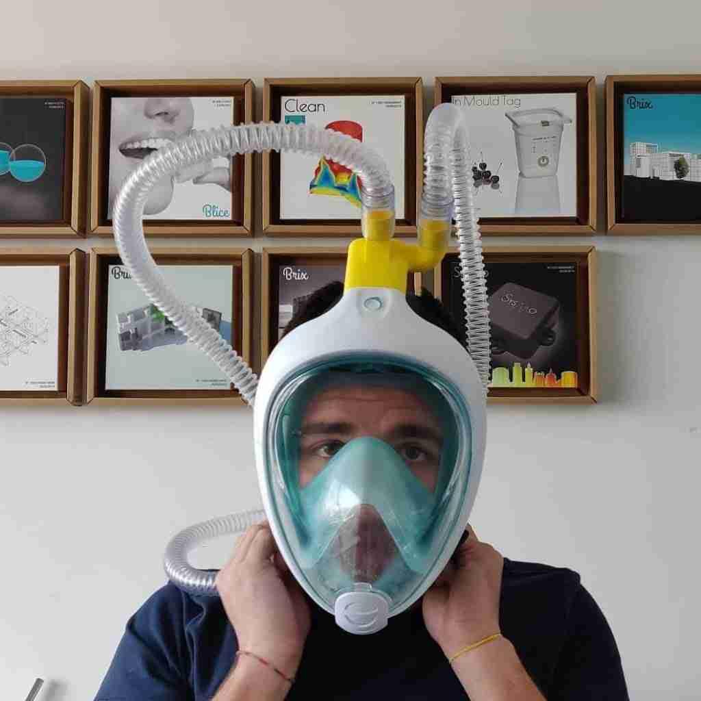 Máscara integral de snorkel para ayudar a los sanitarios a salvar vidas 3