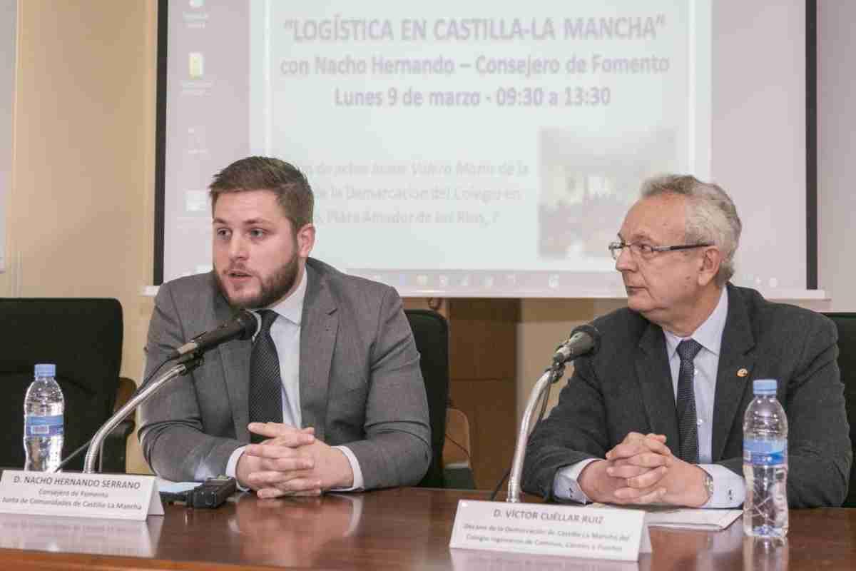 nacho hernando inauguro jornada del Colegio de Ingenieros de Caminos Canales y Puertos