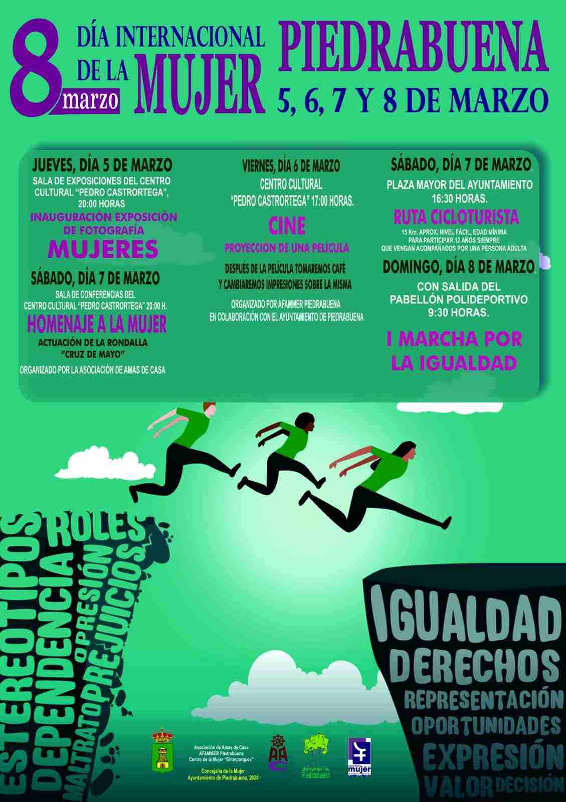 Piedrabuena organiza la 1ª Marcha por la Igualdad como epicentro de una variada programación por el 8 de marzo 8
