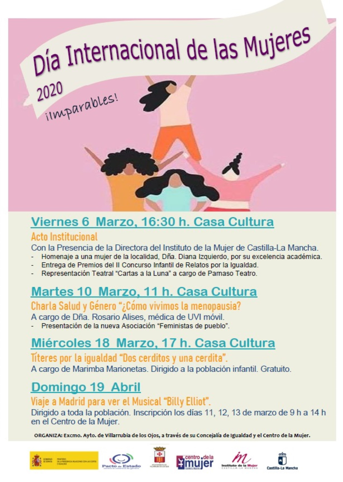 programa de actividades dia de la mujer en villarrubia