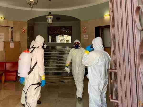 La UME instruye en la residencia universitaria de la Diputación al personal del GEACAM en desinfección de interiores 3