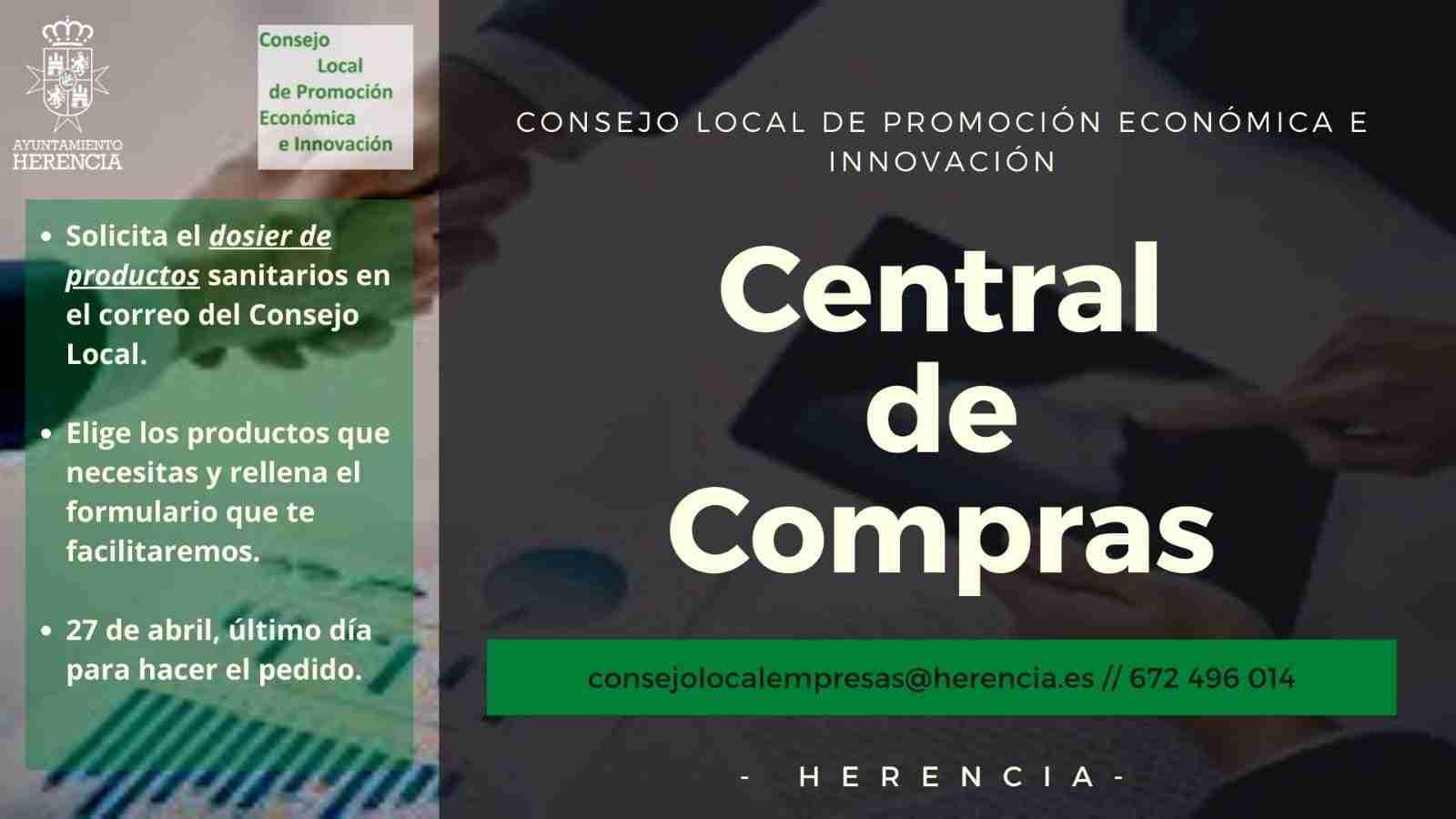 """El Consejo Local de Promoción Económica e Innovación de Herencia pone en marcha una """"central de compras"""" de material sanitario para empresas y autónomos 5"""