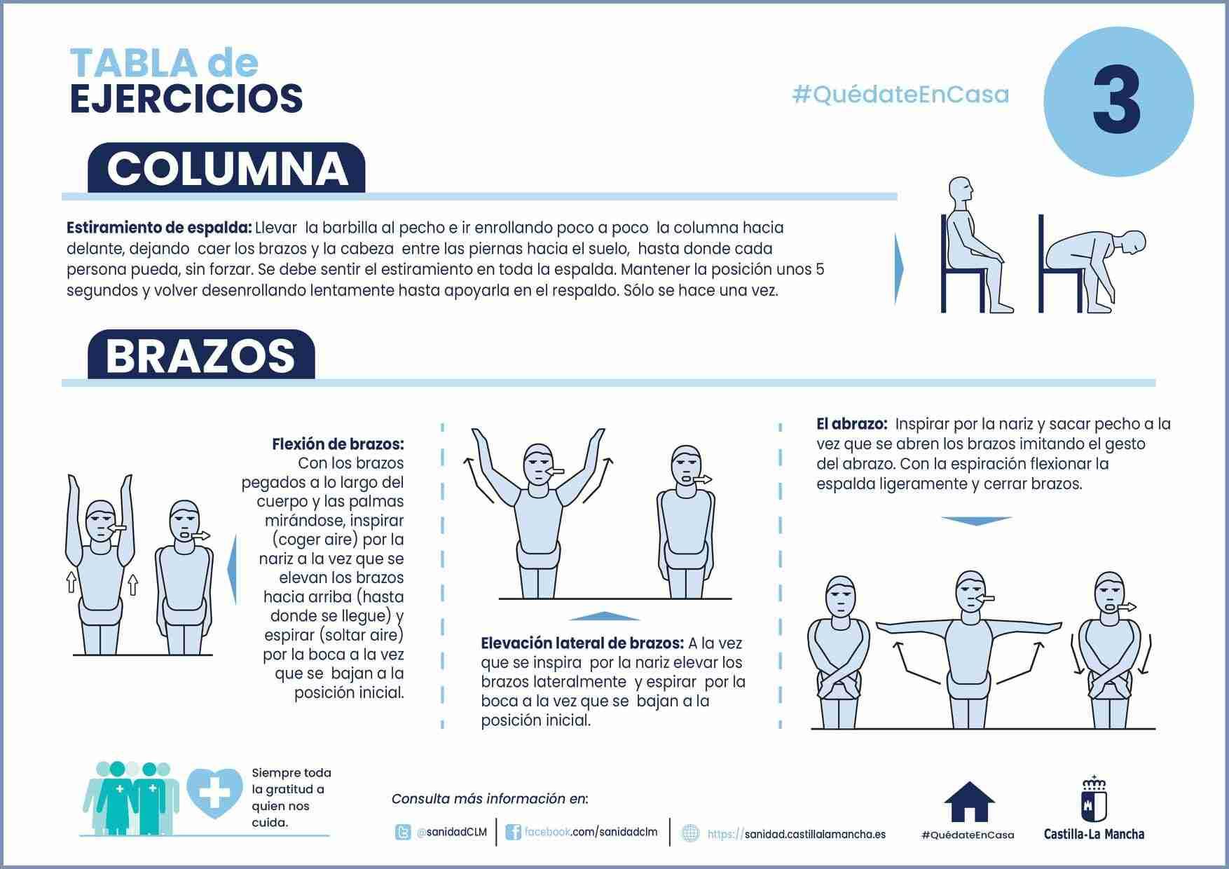 Ejercicios para mantenerse activo en casa durante el confinamiento. 13