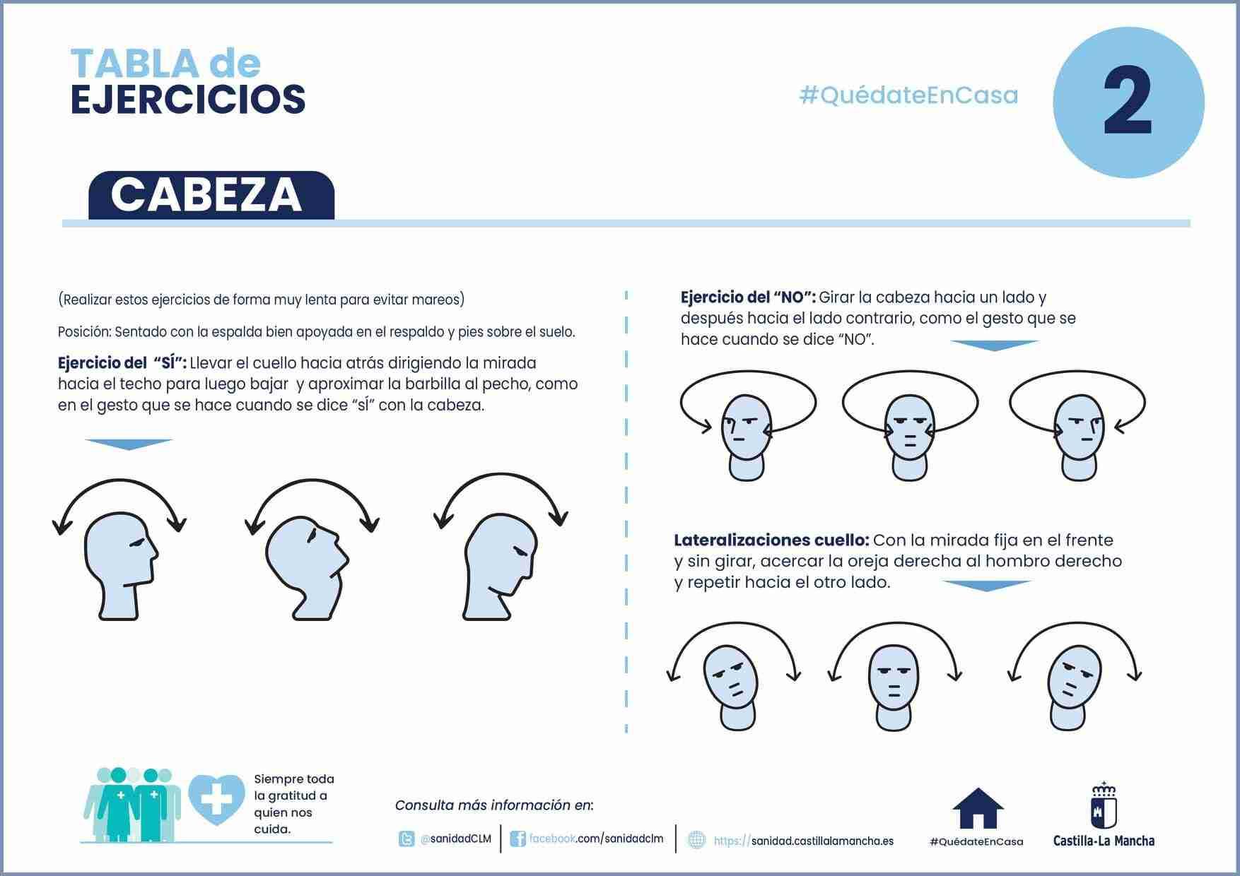 Ejercicios para mantenerse activo en casa durante el confinamiento. 12
