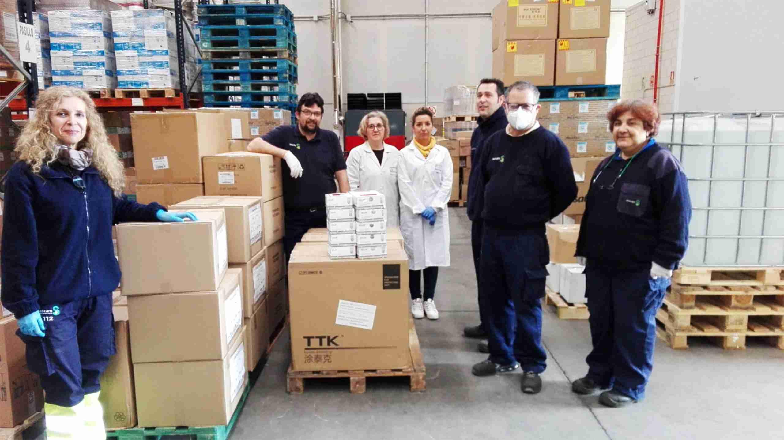 Centros sanitarios de la provincia de Ciudad Real reciben más de 61.000 artículos de protección y 2.200 test rápidos 3