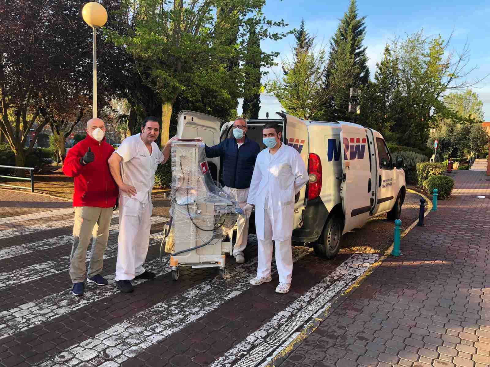 Ayuda para el Hospital de Guadalajara entrega 1 respirador en colaboración con EO Madrid 1