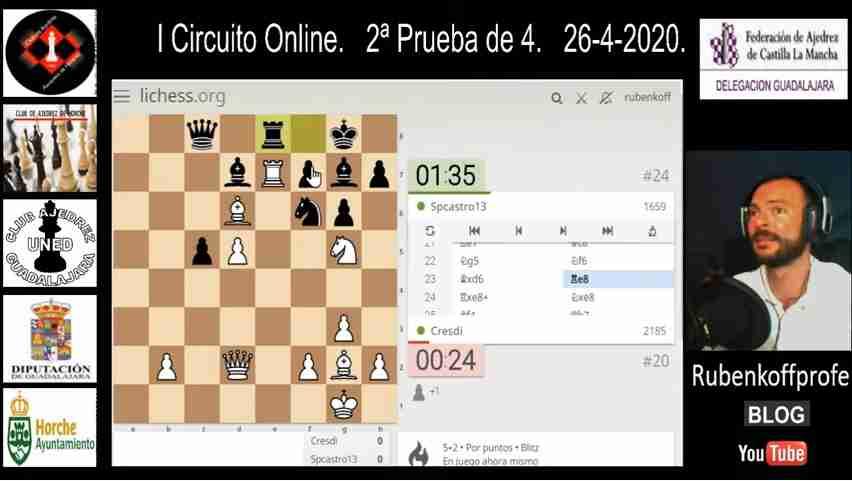 Cuarto Torneo del I Circuito Provincial de Ajedrez Online en Guadalajara 3