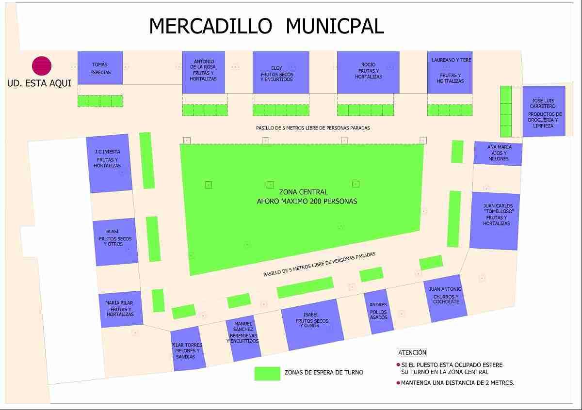 Villarrubia de los Ojos reabre esta semana el Mercado Municipal de Abastos y el espacio público del Mercadillo 3