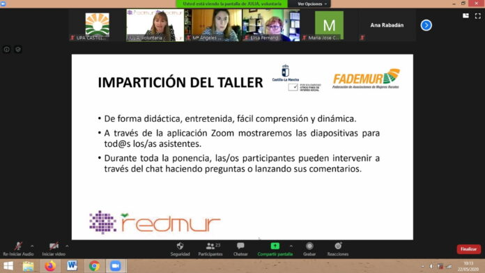 fademur impartira talleres formativos online del programa redmur