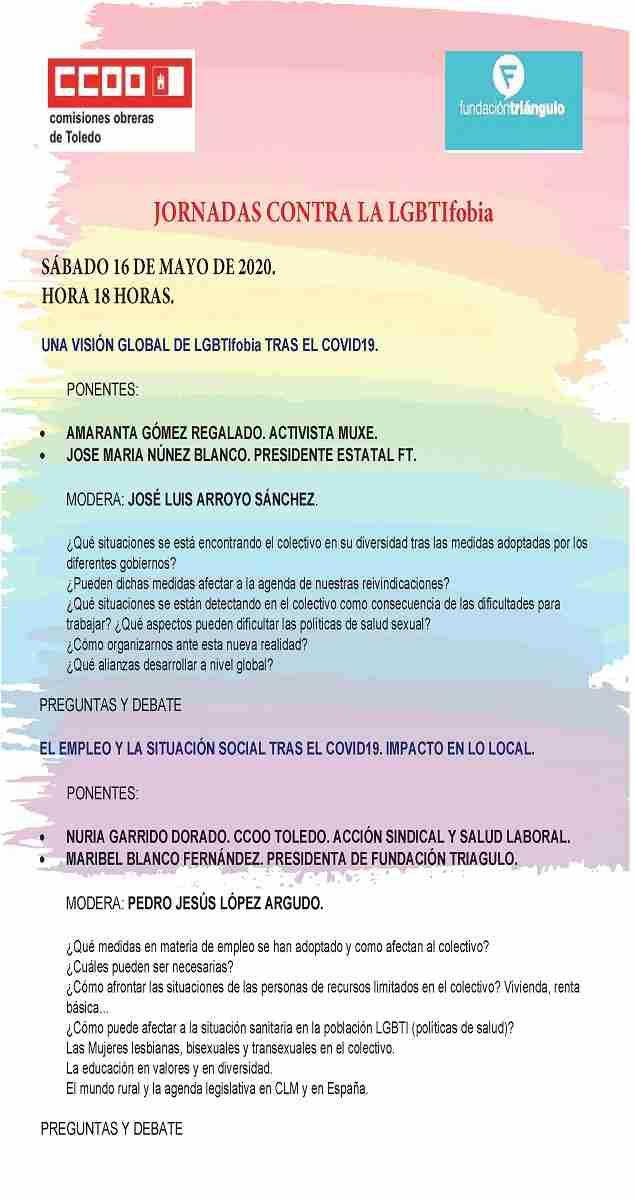 CCOO-Toledo y Fundación Triángulo desarrollan diferentes actividades con motivo del Día internacional contra la LGBTIfobia 3