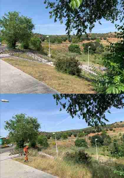 Antes y Después Avenida de Madrid