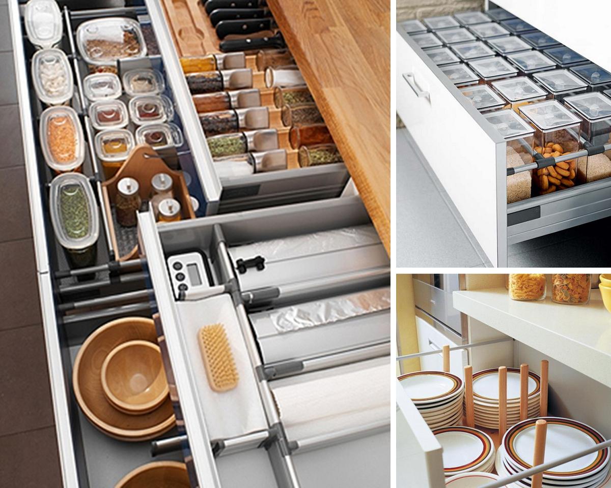Cómo organizar una cocina sin muebles altos 39