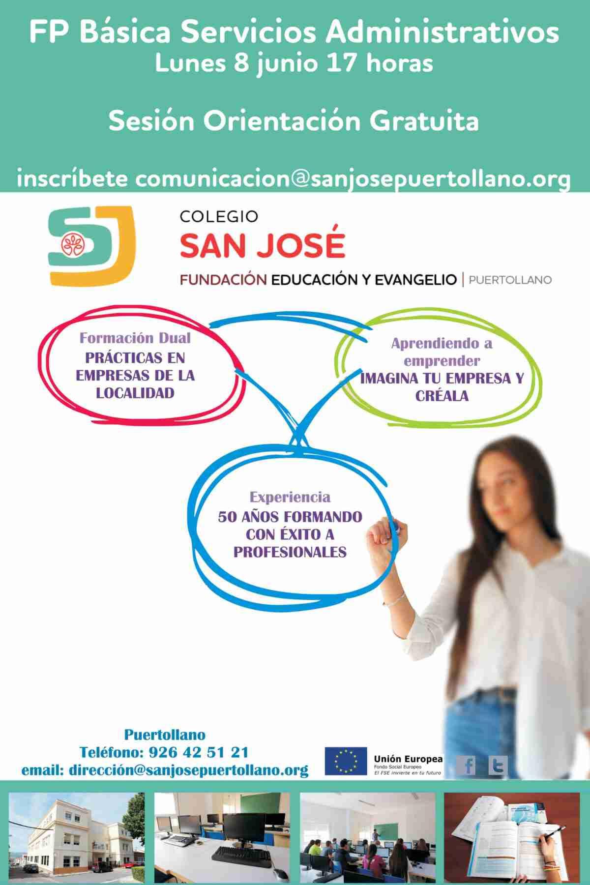 El Colegio San José de Puertollano invita a una sesión gratuita de orientación sobre FP Básica 1
