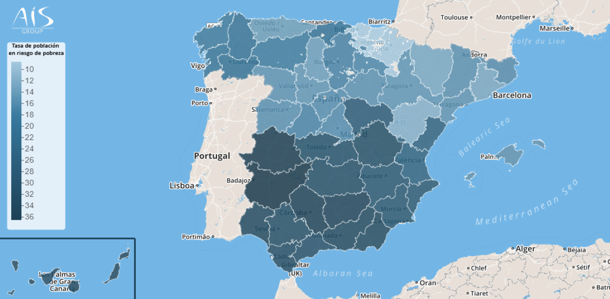 familias castellano manchegas en riesgo de pobreza en espana