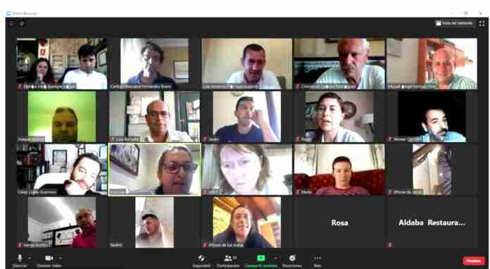 videoconferencia de hosteleros y gobierno de villarrubia de los ojos