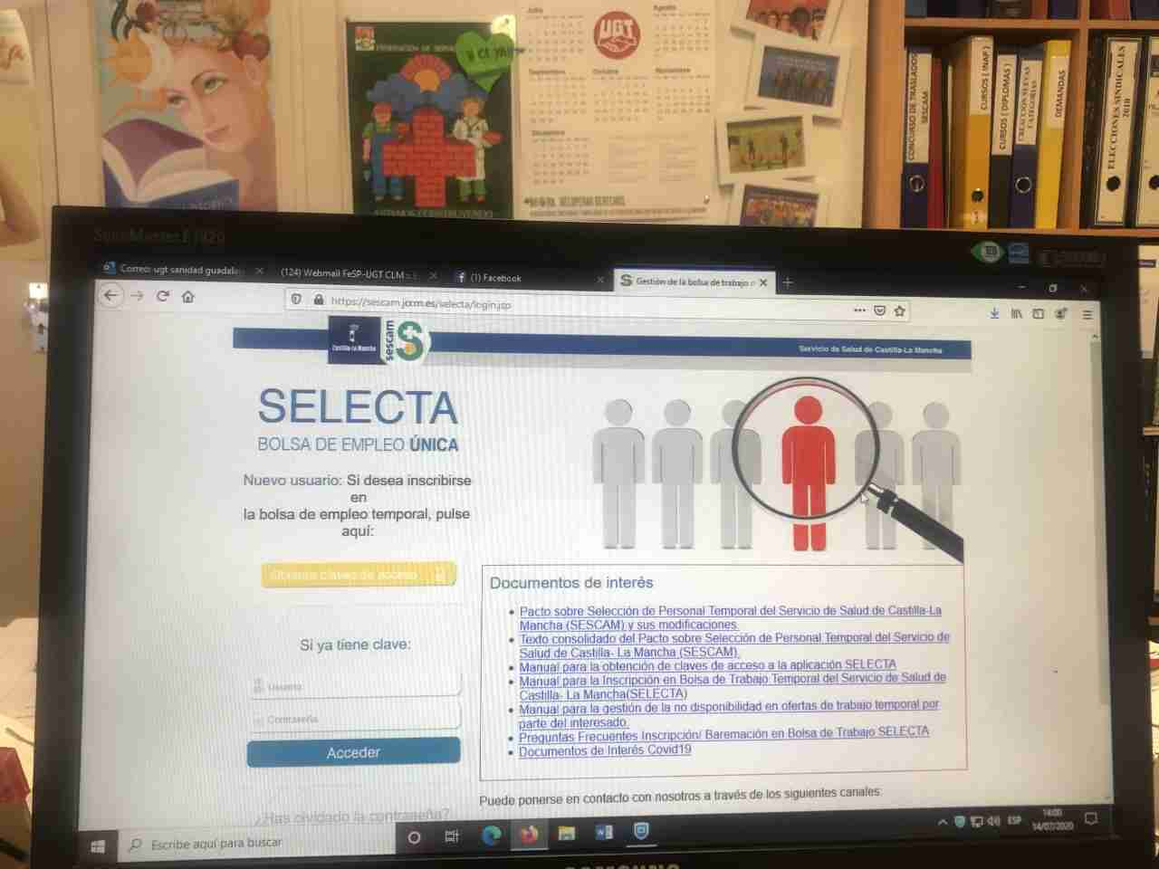 UGT solicita al SESCAM actualizar los listados de la bolsa de trabajo 1