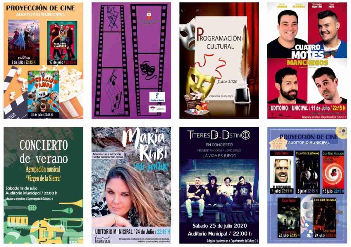 Las noches de julio en Villarrubia de los Ojos con cine, música y humor 3