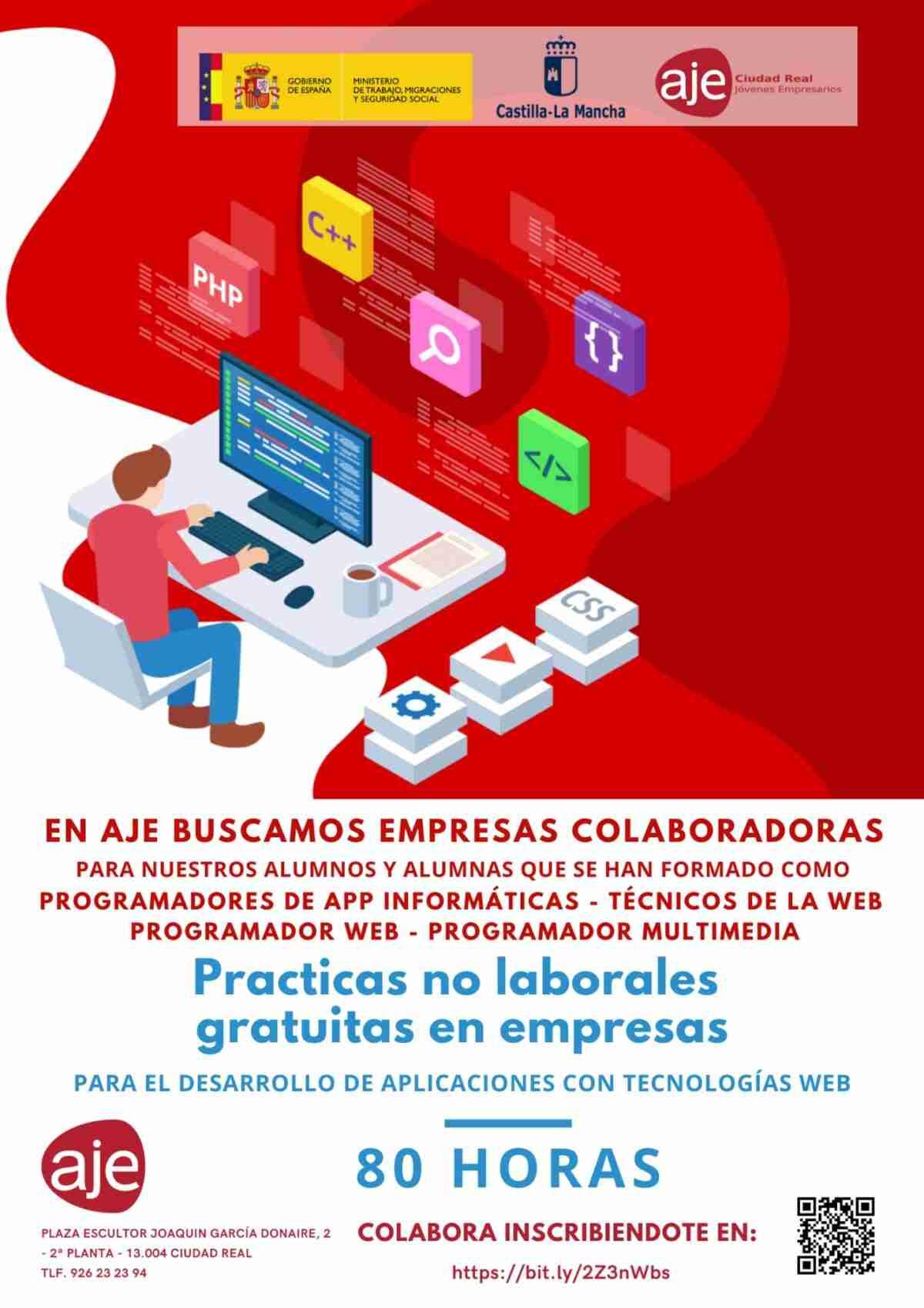 AJE en busca de empresas para que los alumnos del certificado en Aplicaciones con  Tecnología Web lleve adelante sus prácticas 2