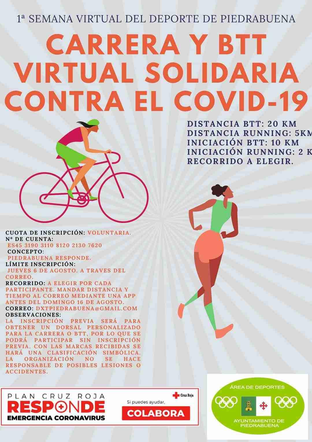 Del 10 al 16 de agosto, la Semana Virtual y Solidaria del Deporte en Piedrabuena 2