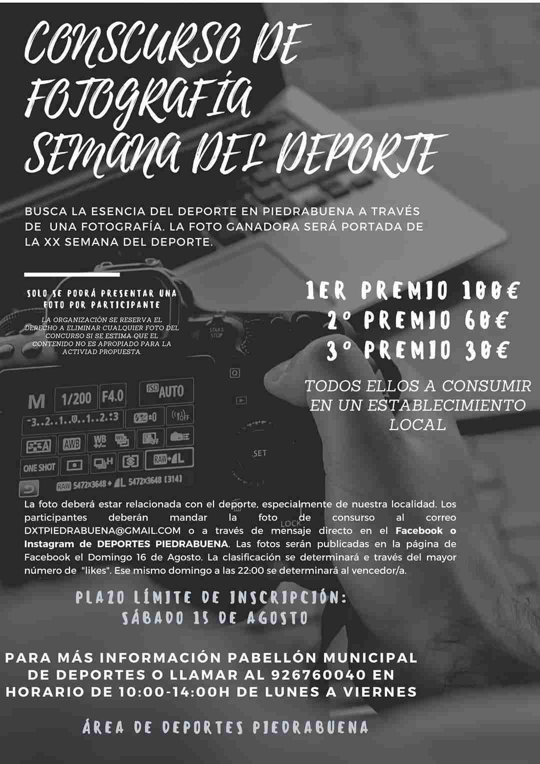 Del 10 al 16 de agosto, la Semana Virtual y Solidaria del Deporte en Piedrabuena 3