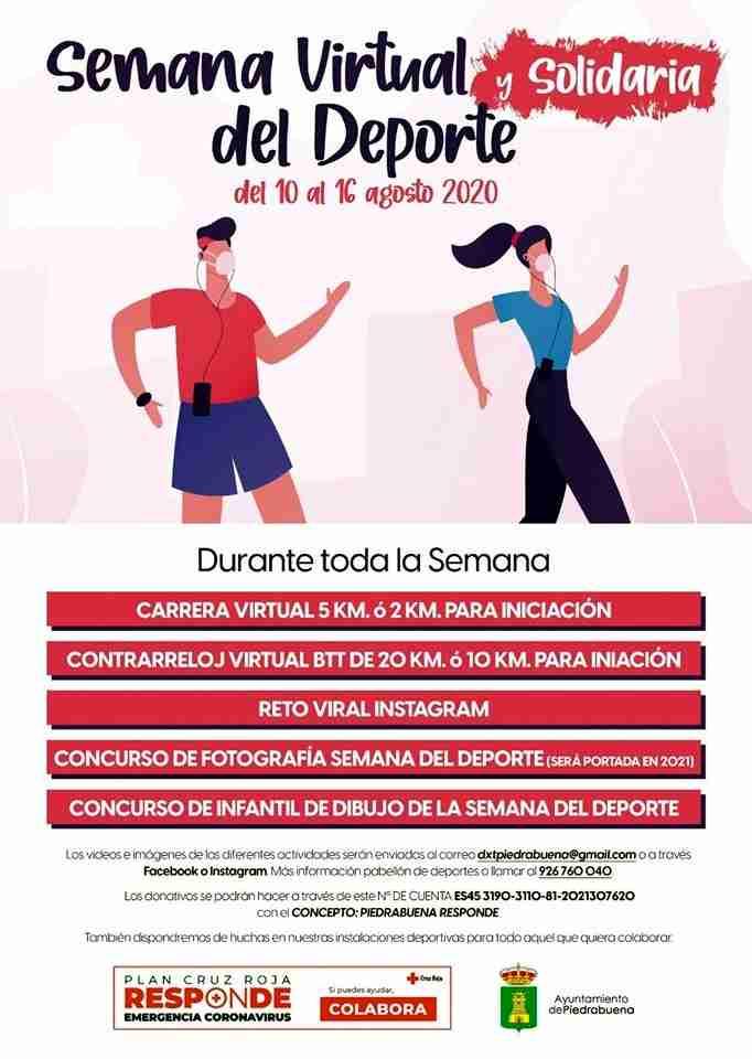 Del 10 al 16 de agosto, la Semana Virtual y Solidaria del Deporte en Piedrabuena 1
