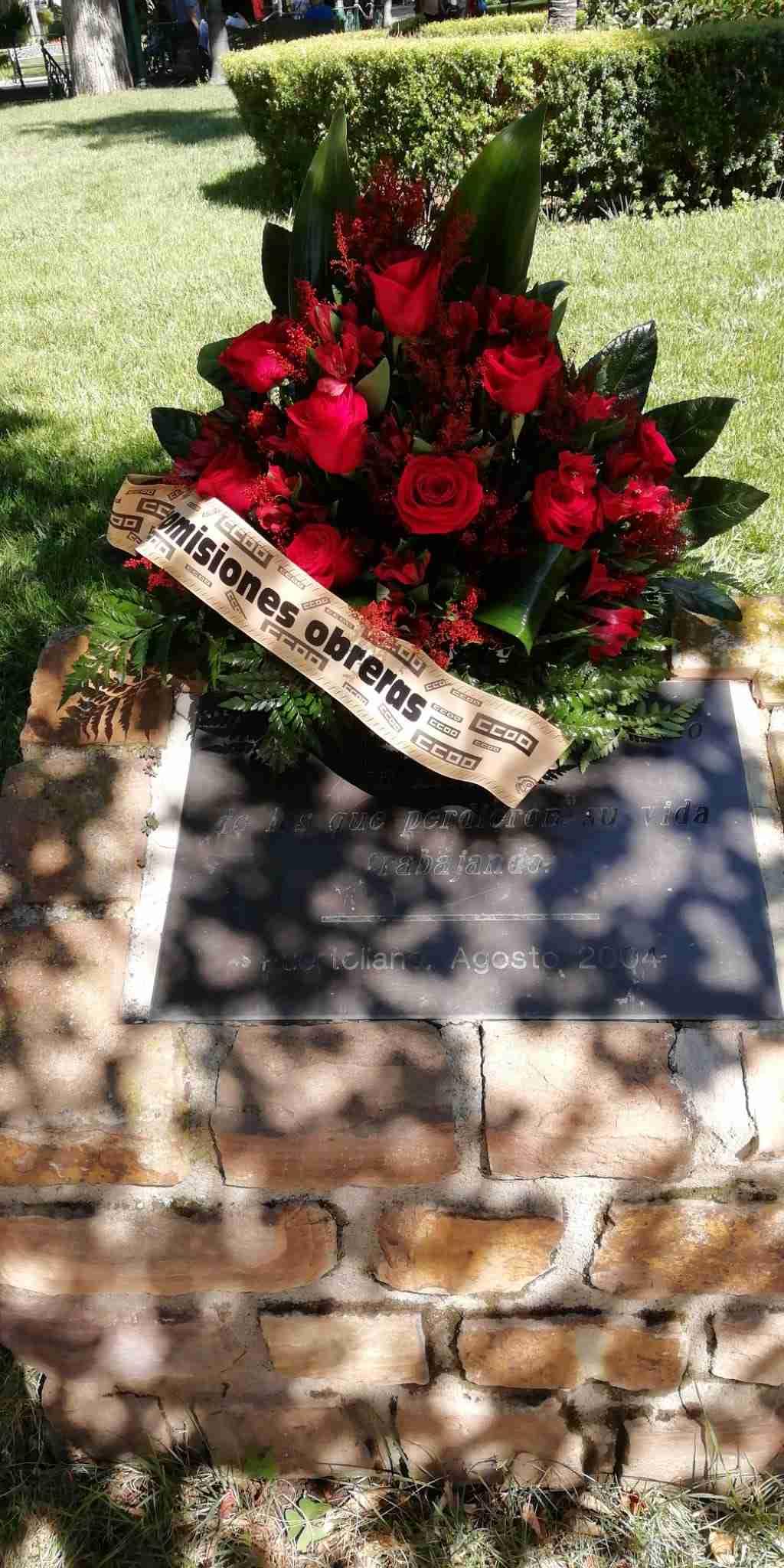 CCOO rindió a los 9 trabajadores fallecidos el 14 de agosto de 2003 en la explosión de Repsol-Puertollano 2