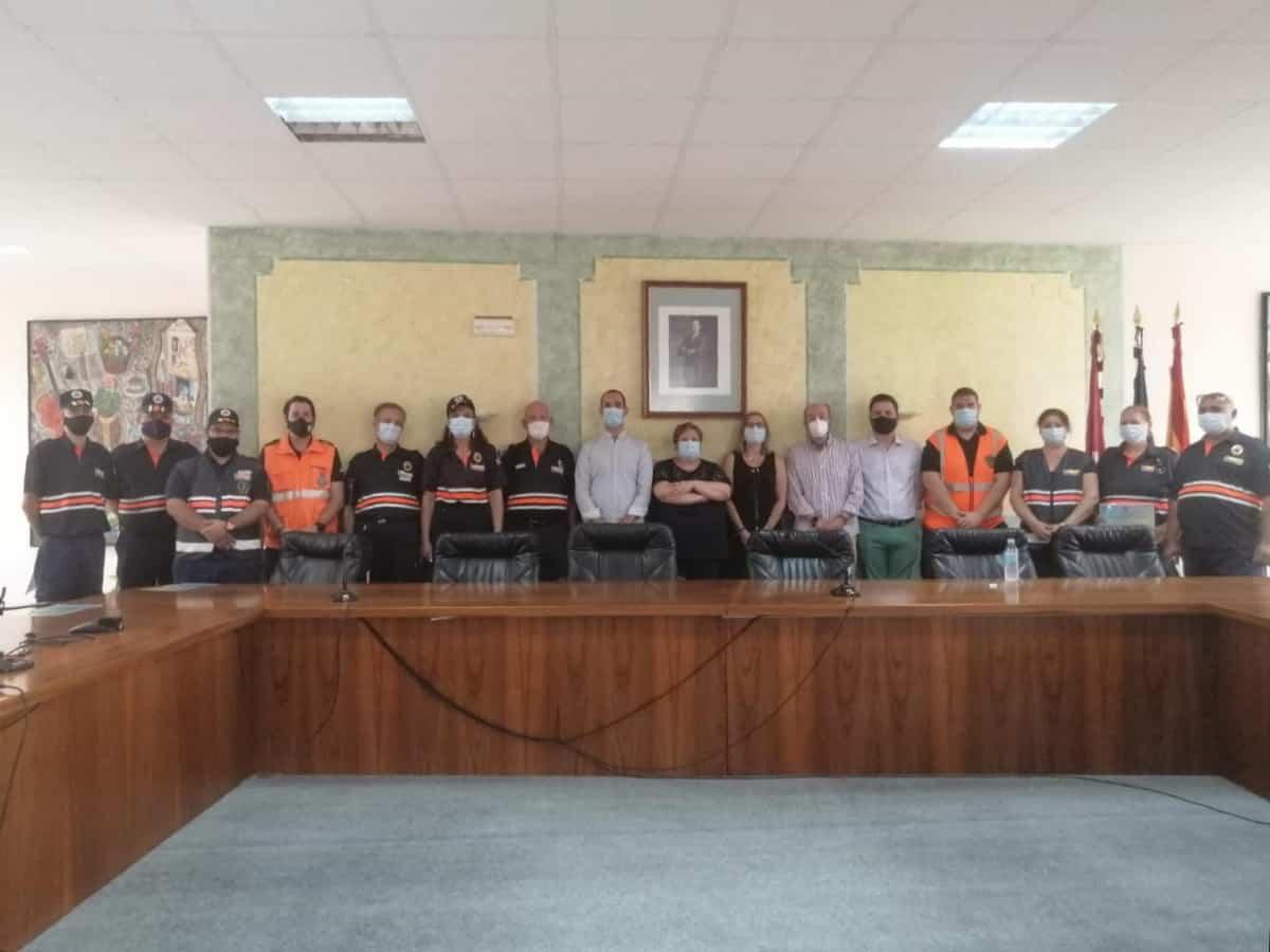 homenaje a proteccion civil en santa cruz de mudela