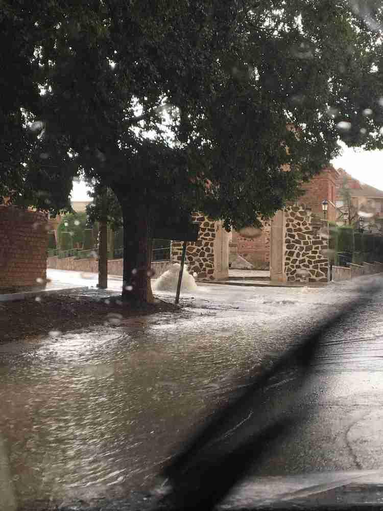 Imagen de las inundaciones cerca del Salvador del Mundo patrón de Calzada de Calatrava 1