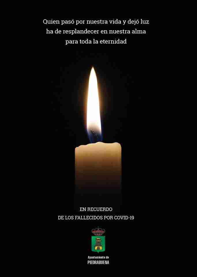 El Ayuntamiento de Piedrabuena sacó una Memoria en soidaridad cn las familias que perdieron a algunos de sus miembros por COVID-19 2