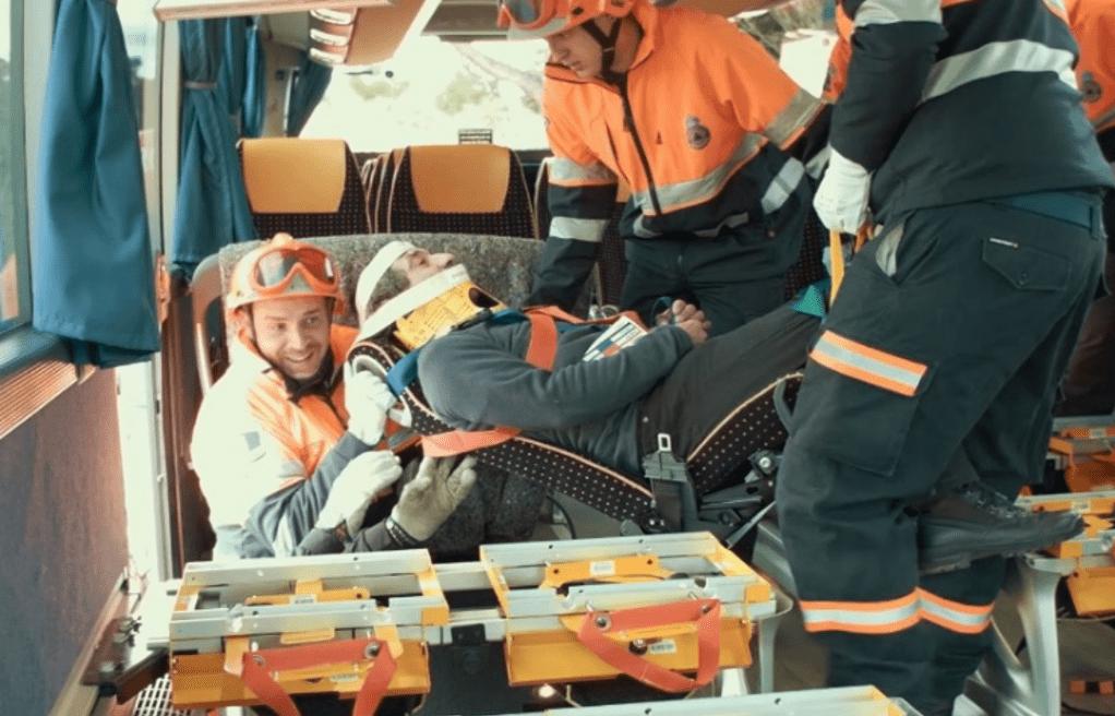 E-RESCUE entrena a los bomberos de Guadalajara en las tareas de rescate en autobuses, mediante los asientos salvavidas 3