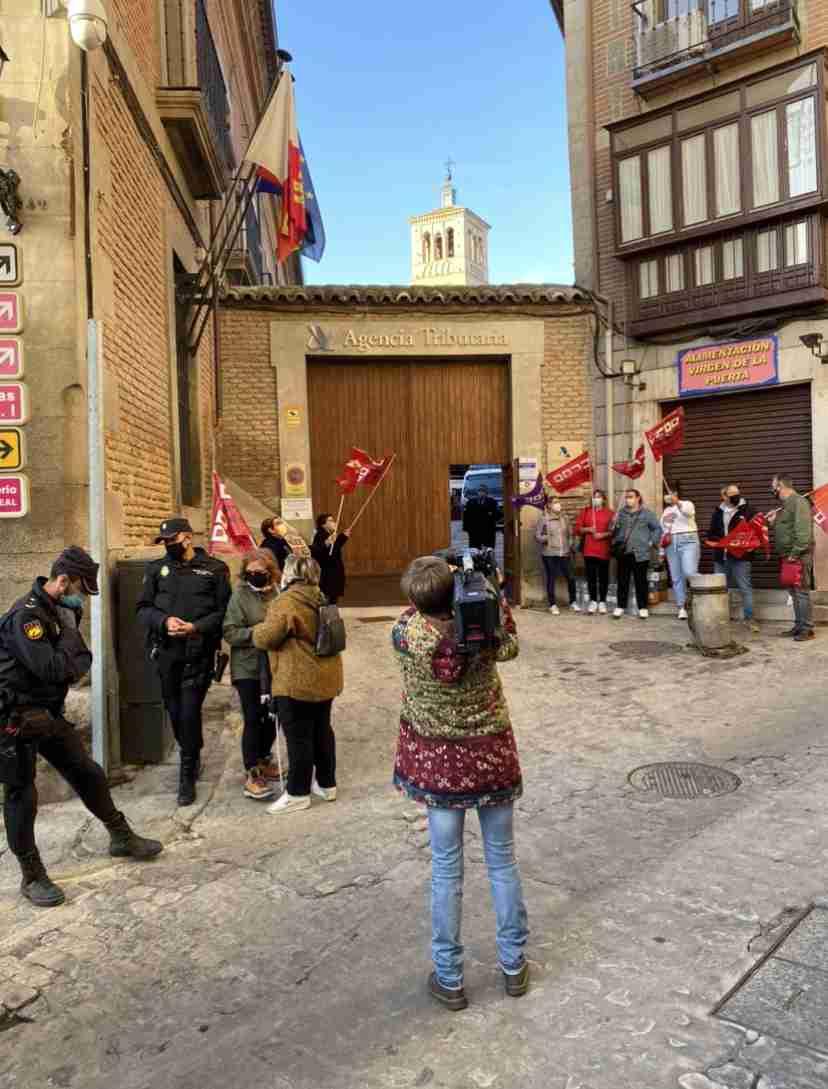 Trabajadoras de la contrata de limpieza de la Agencia Tributaria en Toledo comenzarán una huelga indefinida el 2 de noviembre 1