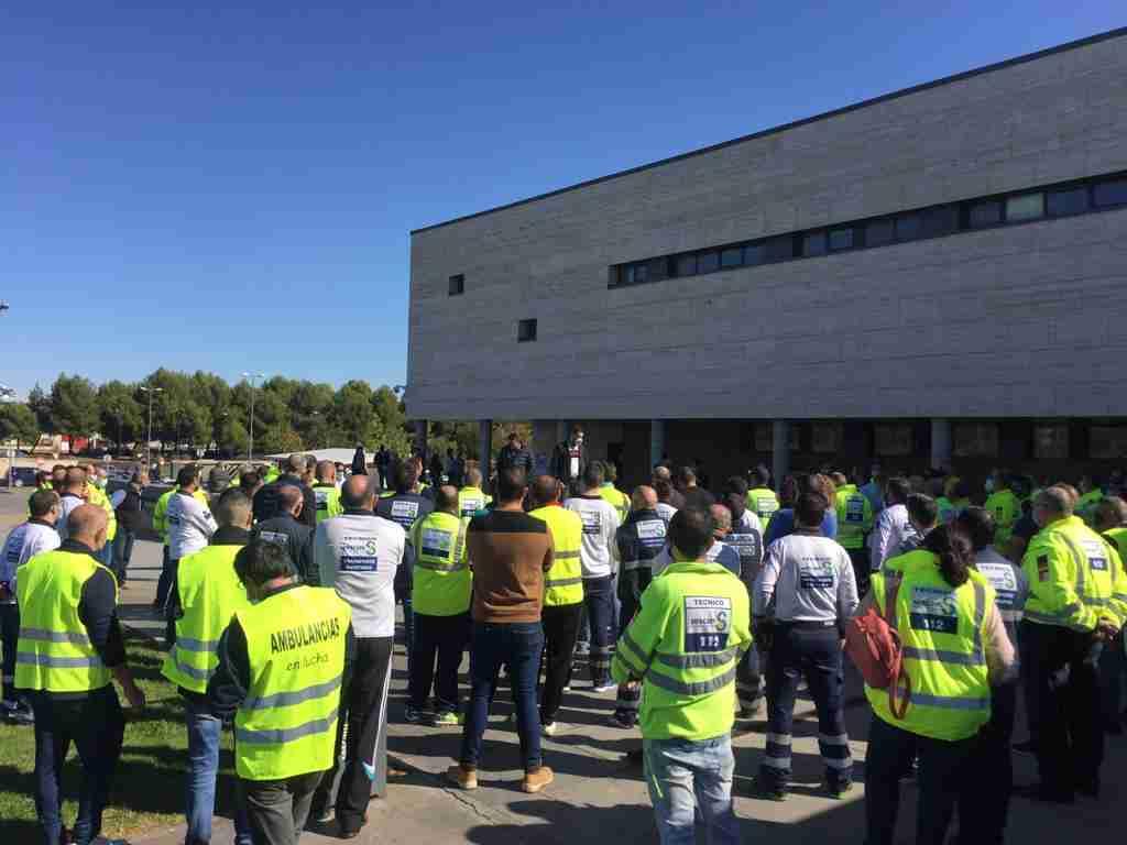Servicios mínimos impiden el ejercicio del derecho a huelga del 95% de los trabajadores del transporte sanitario 1
