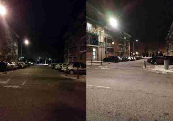 Antes y después Alumbrado 01
