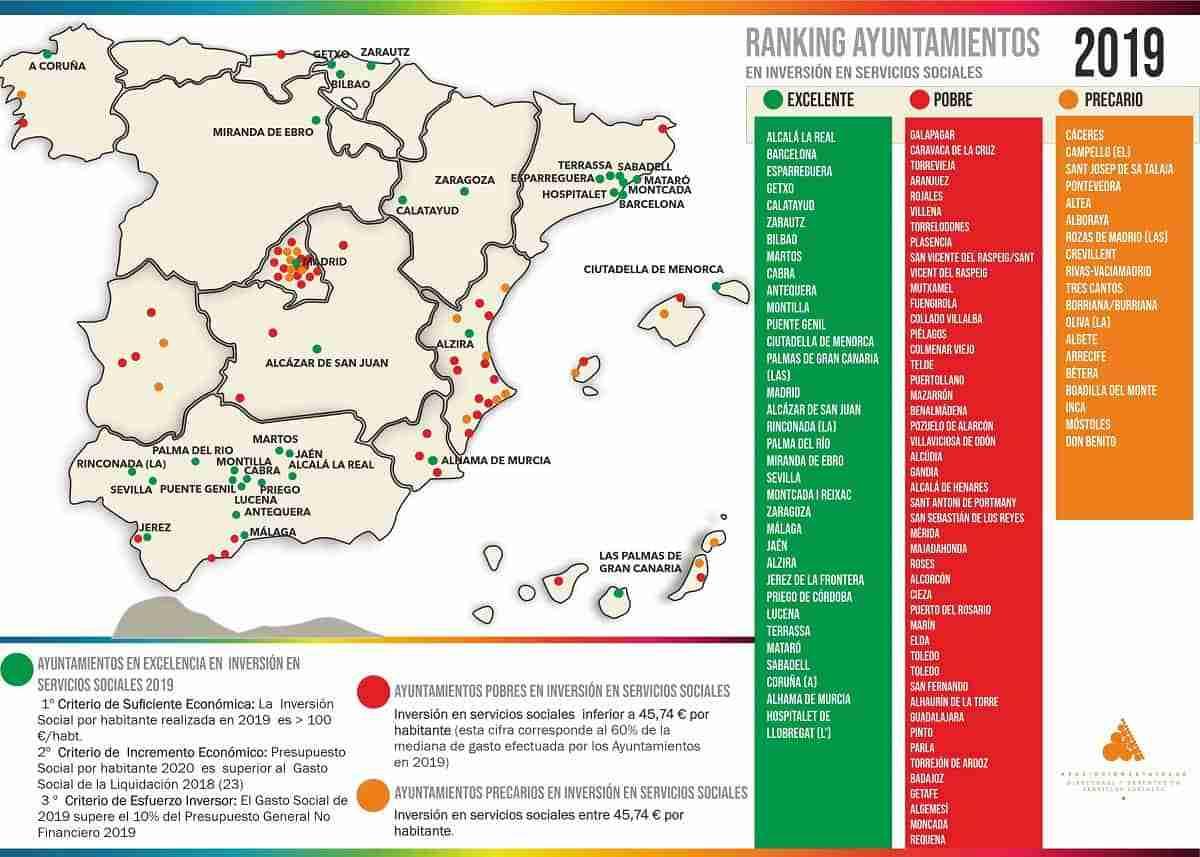 34 ayuntamientos mayores de 20.000 habitantes alcanzan la Excelencia en inversión de servicios sociales 3