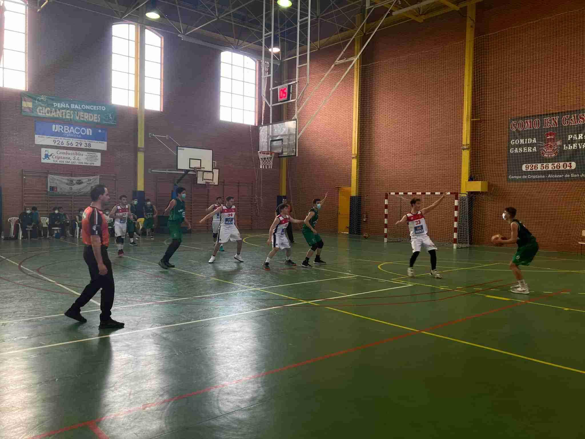 El equipo junior masculino de baloncesto Criptana gana en una nueva jornada de liga 3