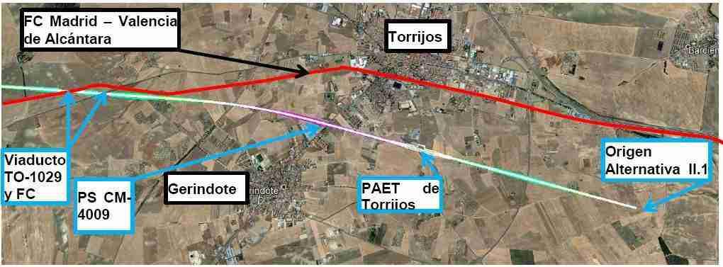 El Colegio de Ingenieros de Caminos propone un corredor único en Torrijos para la línea convencional y la nueva línea AVE Madrid-Extremadura 1
